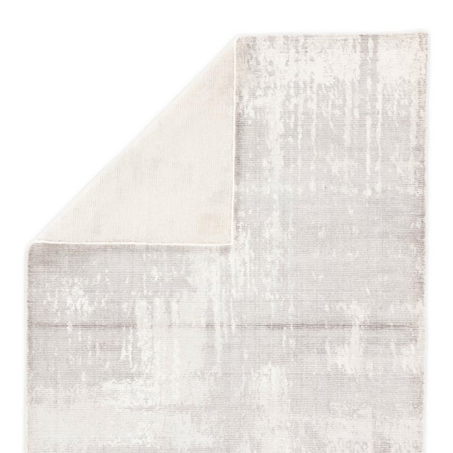 Contemporary Jaipur Living Arabella Handmade Abstract Light Gray White Area Rug 5'X8' For Sale - Image 3 of 6