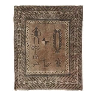 """Antique Turkish Sivas Wool Rug - 3'3""""x 3'2"""""""