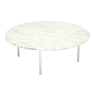 Erwine & Estelle Laverne White Marble Coffee Table 1954, For Sale