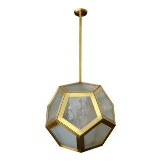 Large Geometric Pentagon Hanging Lantern For Sale