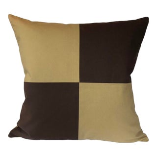 Minimalist Check It Out Pillow - 22ʺW × 22ʺH For Sale