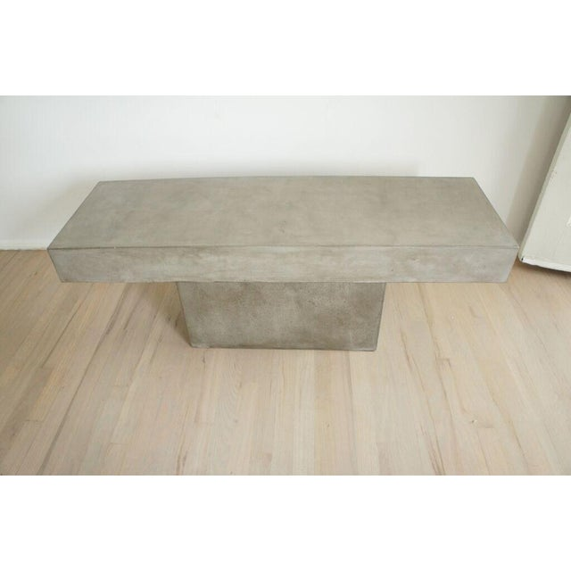 CB2 Concrete Resin Fuze Bench - Image 4 of 6