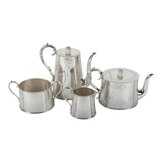 Old English Silver Plate Tea / Coffee Service For Sale