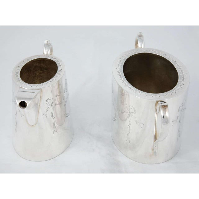 Silver 3 Piece Coffee Set For Sale - Image 8 of 11