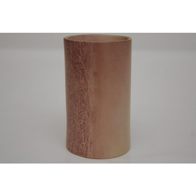 Minimalist Carved Marble Vase / Pencil Cup For Sale - Image 4 of 13