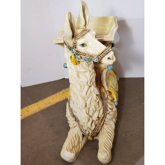 Figurative Vintage Indoor Llama Figural Planter For Sale - Image 3 of 11