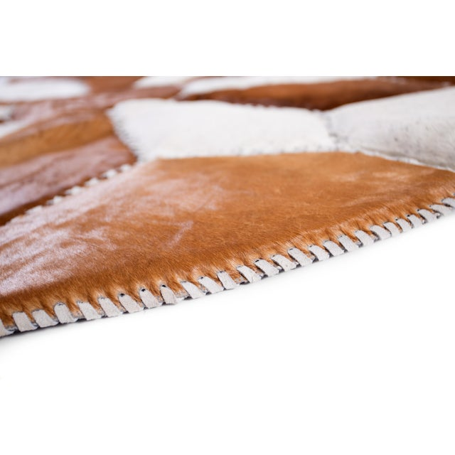 """Cowhide Patchwork Area Rug - 5'9"""" x 5'9"""" - Image 5 of 10"""
