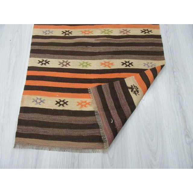 Striped Vintage Kilim Runner - 2′8″ × 11′3″ For Sale - Image 5 of 6