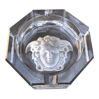 Versace Crystal Ashtray For Sale