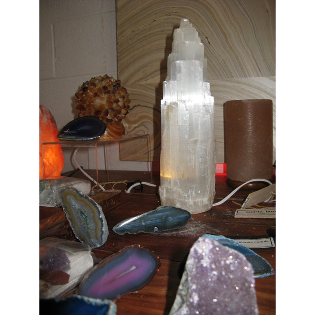 Selenite Lamp Skyscraper For Sale In Charleston - Image 6 of 7