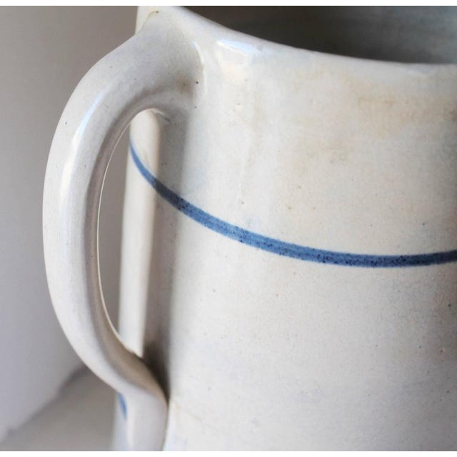 19th Century Handmade Stoneware Pitcher For Sale - Image 4 of 6