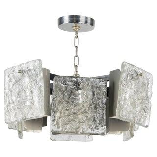 j.t. Kalmar Ice Block Chandelier For Sale