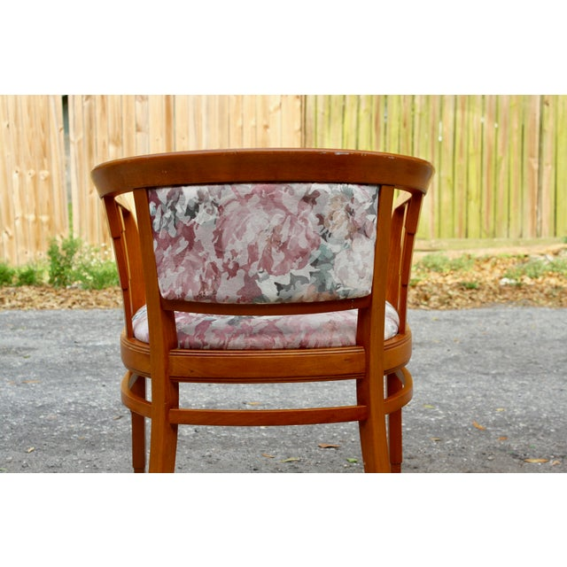 Mid Century Modern Italian Barrel Club Chairs - A Pair - Image 5 of 5