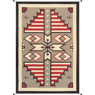 "Navajo Style Hand-Woven Area Rug - 6' X 8'11"" For Sale"