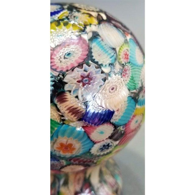 Murano Glass Millefiori Paperweight by Gambaro & Poggi - Vintage Venetian Italian Italy Mid Century Modern MCM Palm Beach Boho Chic Vase Bowl For Sale In Miami - Image 6 of 13