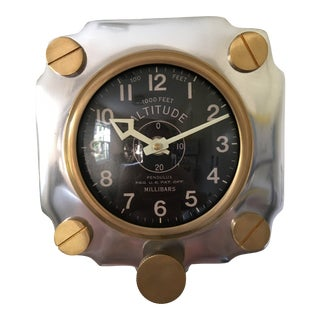 Contemporary 1940s Style Altimeter Wall Clock For Sale