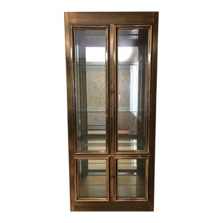 Late 20th Century Mastercraft Brass and Glass Vitrine Display Cabinet For Sale