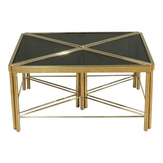 Donahue Steel & Glass 4-Piece Coffee Table
