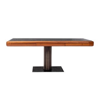 1960's Teak and Marble Executive Desk For Sale