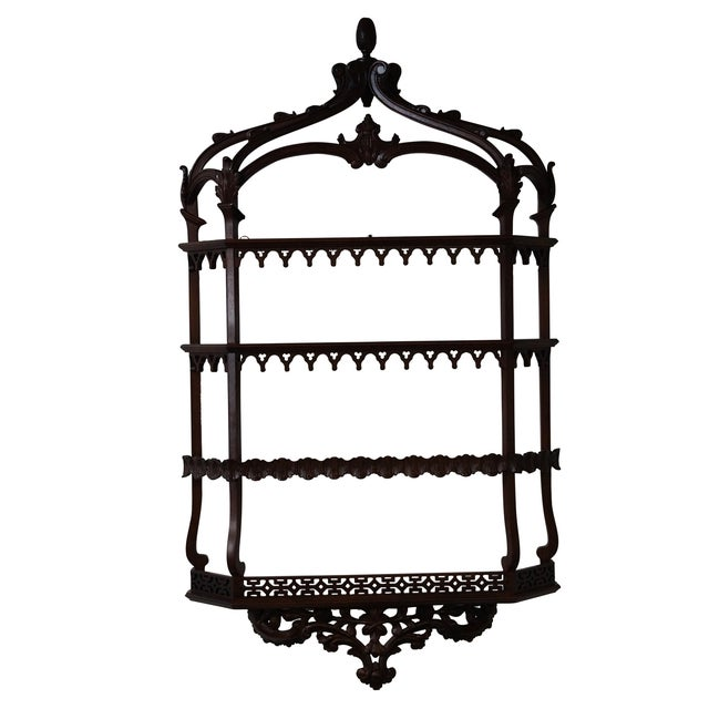 Quality Solid Mahogany French Style Hanging Shelf - Image 1 of 10