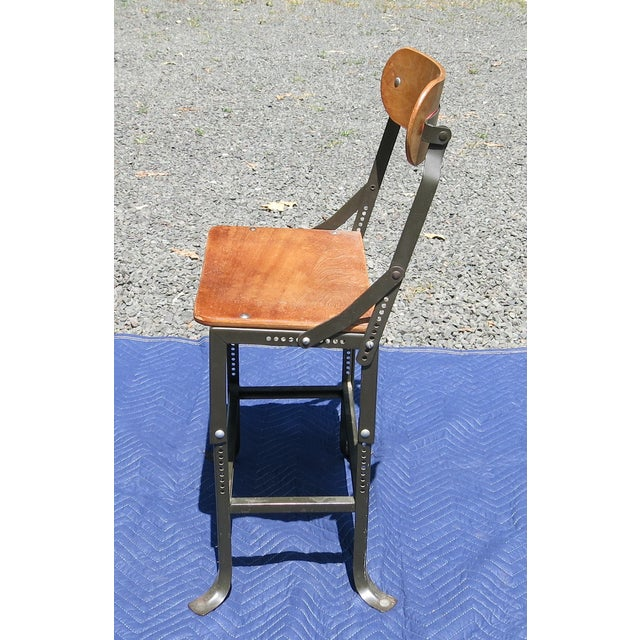 1940s Vintage Industrial Bent Plywood Chair For Sale - Image 4 of 7