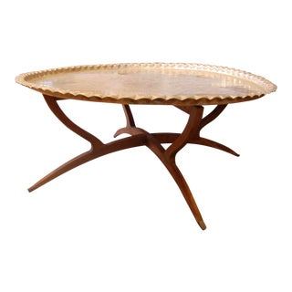 1950s Moroccan Mid-Century Coffee Table For Sale