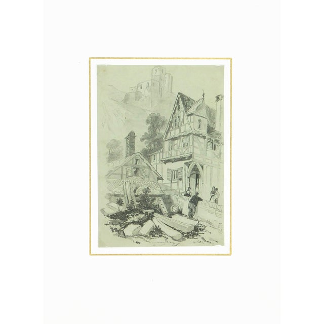 Country Drawing Town, Circa 1880 For Sale - Image 3 of 3