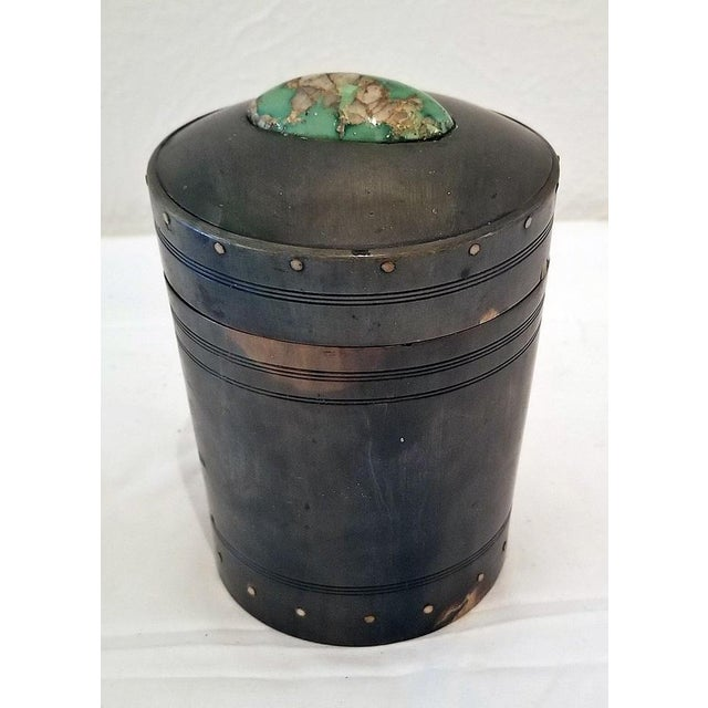 18c Scottish Horn and Polished Stone Tea Caddy For Sale - Image 11 of 12