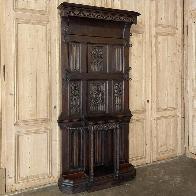 French Gothic Revival Hall Tree Dated 1829 For Sale - Image 13 of 13