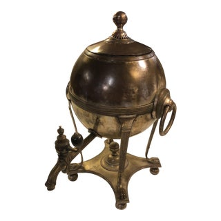 19th Century Traditional Brass Silverplate Samovar For Sale