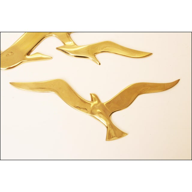 Mid-Century Modern Brass Birds Wall Art - Image 4 of 11