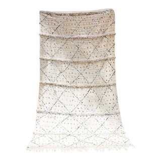 Large Vintage Moroccan Handcrafted Wedding Tribal Blanket Throw with Sequins For Sale