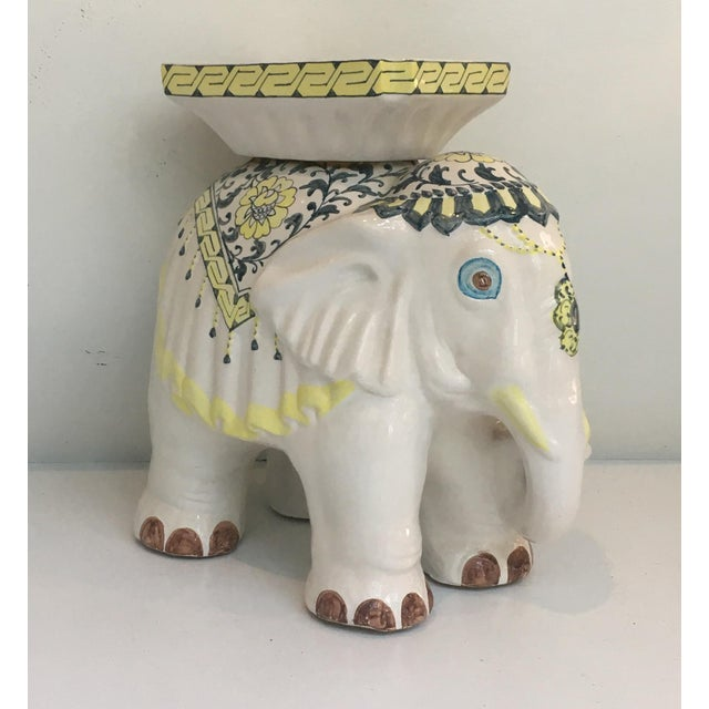 Elephant Garden Stool Side Table For Sale - Image 4 of 7