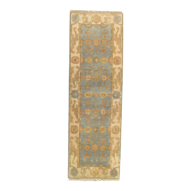 """Pasargad NY Original Oushak Design Hand-Knotted Rug - 2'8"""" x 8'1"""" For Sale"""