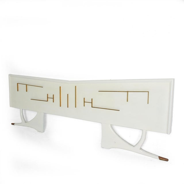 Mid Century Mexican Modernist King Size Headboard For Sale - Image 10 of 10
