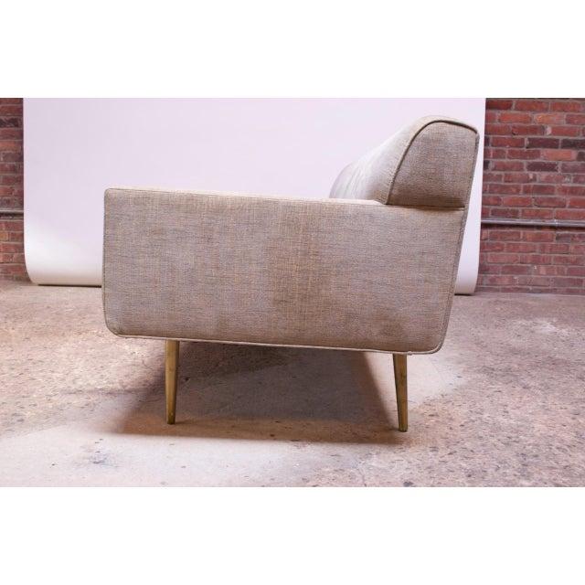 Dunbar Furniture Edward Wormley for Dunbar Sofa With Brass Feet For Sale - Image 4 of 13