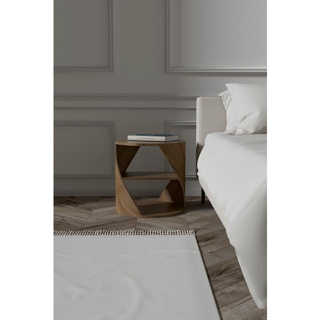 Mydna Oak Decorative Side Table by Joel Escalona For Sale - Image 6 of 9