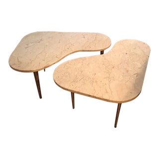 Mid-Century Modern Amoeba Side Tables - a Pair For Sale