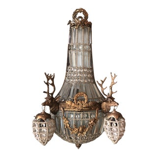 1970s Large Deer Head Stag Sconce For Sale