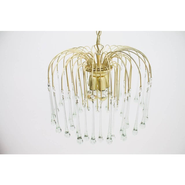 Gold Christoph Palme Waterfall Chandelier Brass and Glass, Germany, 1970s For Sale - Image 8 of 10
