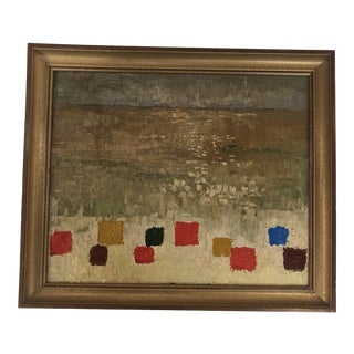 "Circa 1965, Contemporary Oil on Canvas: ""Squares"" For Sale"