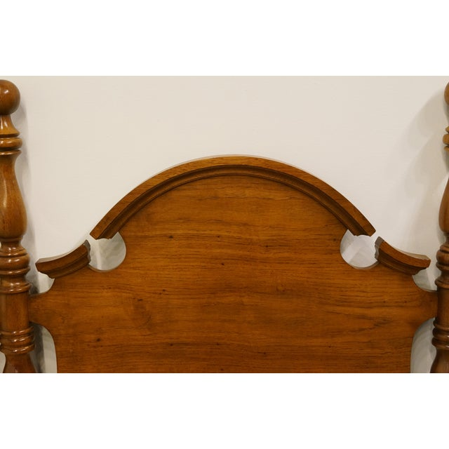 Late 20th Century Vintage Thomasville Furniture Fisher Park Collection King Size Headboard For Sale In Kansas City - Image 6 of 8