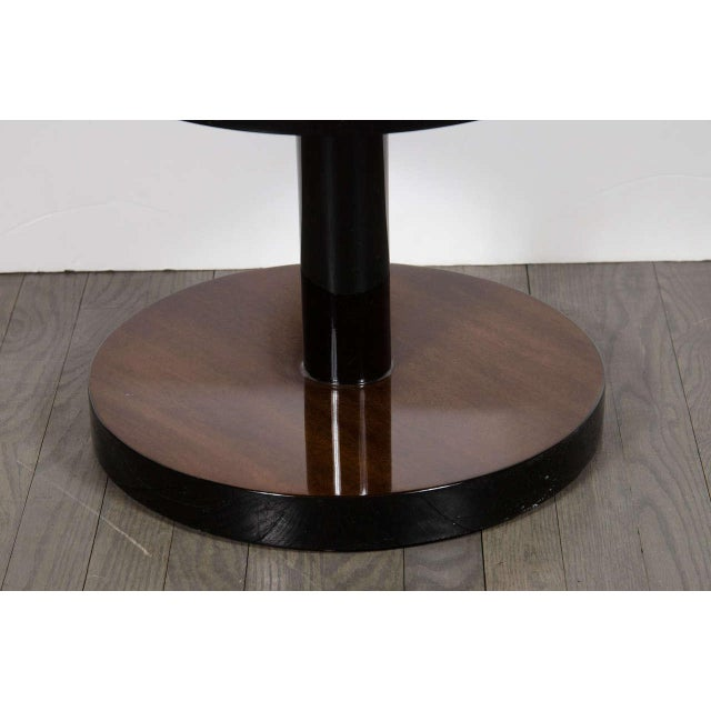 Art Deco Machine Age Pair of Art Deco Three-Tier Column-Form Occasional Tables For Sale - Image 3 of 8