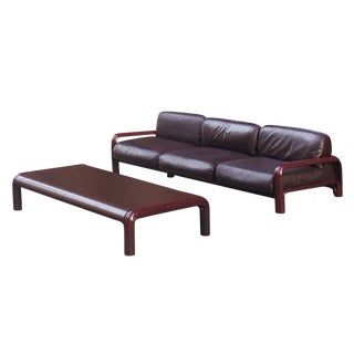 1970s Gae Aulenti for Knoll Stamped Sofa & Table For Sale