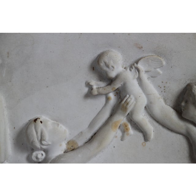 Neoclassical Plaster Relief Cherub Wall Art For Sale In Richmond - Image 6 of 11