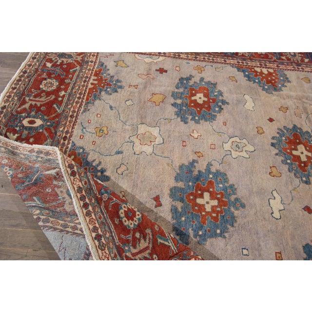 Islamic Apadana - Antique Persian Mahal Rug, 9' x 11' For Sale - Image 3 of 7