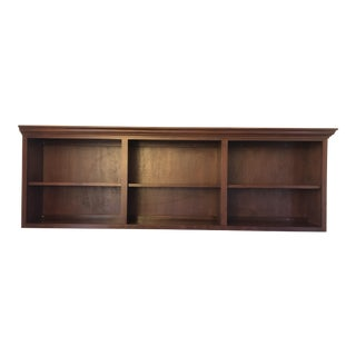 Custom Built Wall Mounted Bookcase For Sale