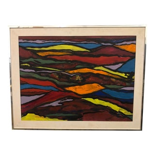 20th Century Abstract Painting by Norma Bergerac For Sale