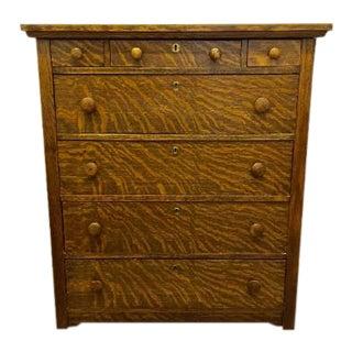 Antique Tiger Oak Highboy Dresser