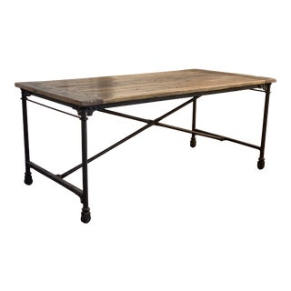 Industrial Restoration Hardware Flatiron Reclaimed Writing Desk For Sale